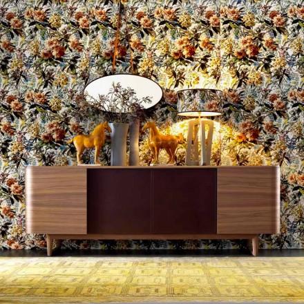 4-Türen Sideboard aus Holzfurniet made in Italy Grilli York