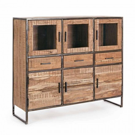 Industrial Style Sideboard aus Akazienholz und Stahl Homemotion - Zompo
