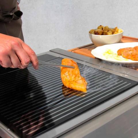 Moderne Küche auf Rädern für Garten im Freien in Holz und Stahl - Calliope