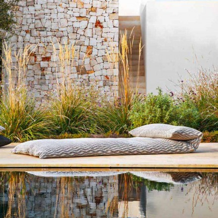 Single Daybed Outdoor Design Hocker, Hochwertig Made in Italy - Emanuela