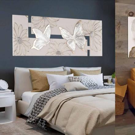 Handgefertigte Malerei mit Schmetterlinge in doppelte L-Form made in Italy Martina