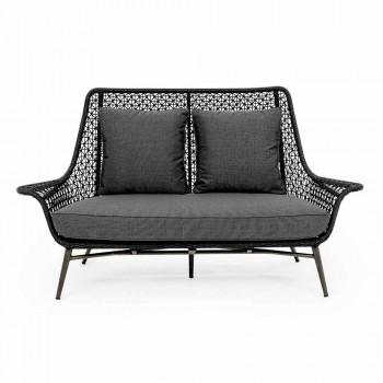 2-Sitzer Outdoor Design Sofa aus Aluminium und Homemotion Stoff - Nigerio