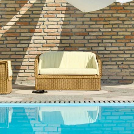 Outdoor Polyrattan Loungesofa 2 Sitzer Jonny handmade
