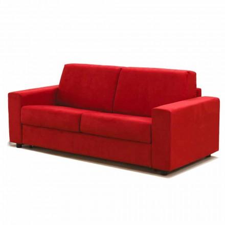 Modernes Zweisitzer-Sofa maxi aus Kunstleder/Stoff made in Italy Mora