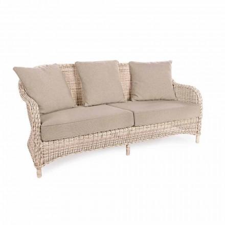 3-Sitzer-Gartensofa aus gewebter Faser des Homemotion-Designs - Casimiro
