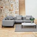 5-Sitzer Outdoor-Ecksofa in Aluminium 3 Oberflächen, Luxus - Filomena