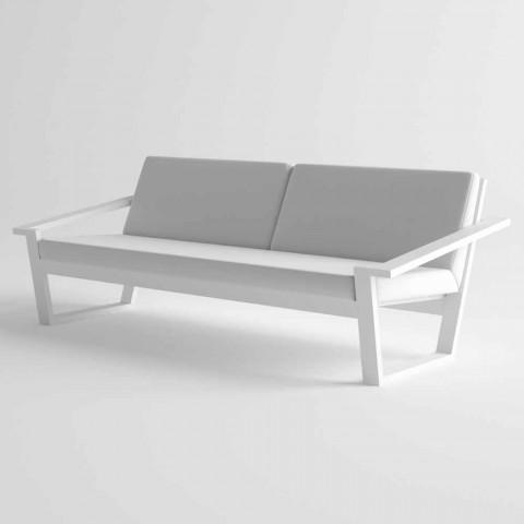 2 oder 3 Sitzer Outdoor Sofa in Aluminium und Stoff Modernes Design - Louisiana