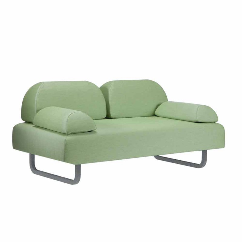 2-Sitzer-Outdoor-Sofa aus Stoff und Metall Made in Italy Design - Selia