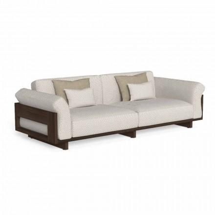 Outdoor-Sofa aus Stoff und Edelholz gepolstert Accoya - Argo von Talenti