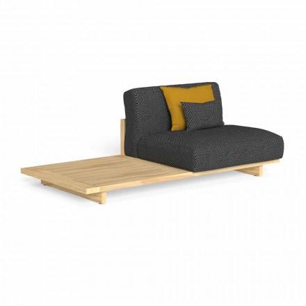Modulares Outdoor-Sofa mit rechtem oder linkem Tisch - Argo von Talenti
