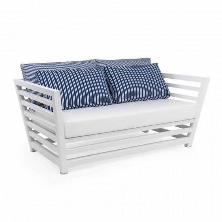 2-Sitzer-Gartensofa aus weißem oder schwarzem Design-Aluminium - Cynthia
