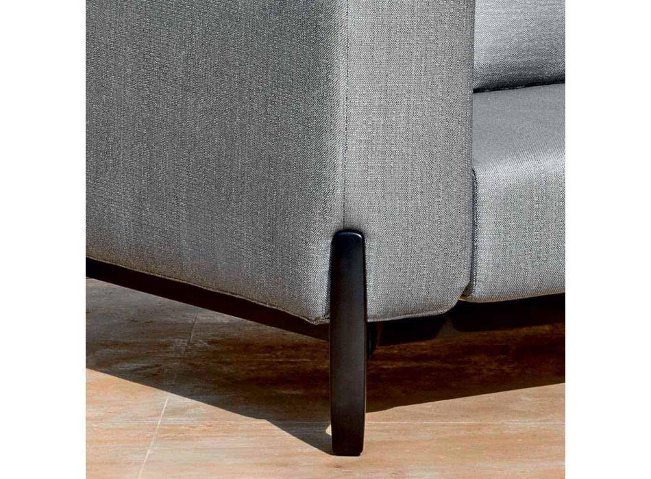 3-Sitzer-Gartensofa mit Chaiselongue aus Aluminium und Stoff - Filomena