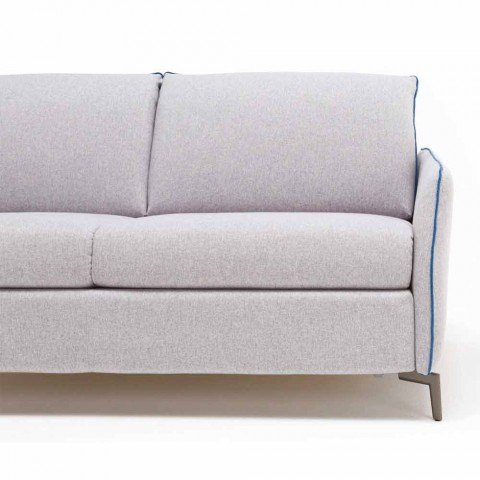 Zwei Sitzer-Sofa modernes Design L.145 cm Kunstleder / Stoff Erica