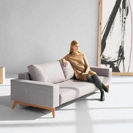 Schlafcouch im skandinavischen Stil grau Idun von Innovation
