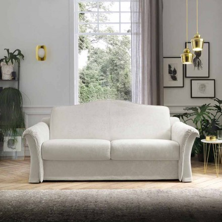 Stoffsofa mit Arabescato Details Made in Italy - Gigliola