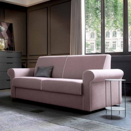 Doppelschlafsofa gepolstert mit lila Stoff Made in Italy - Biancospino