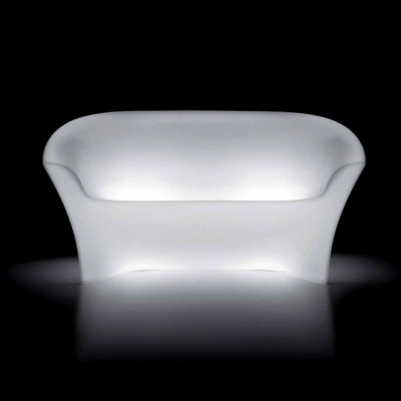 Helles Outdoor-Sofa aus Polyethylen mit LED-Licht Made in Italy - Conda