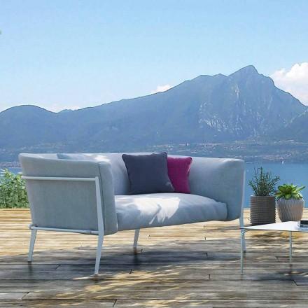 Modernes Sofa für herausnehmbares Design im Außen- oder Innenbereich Made in Italy - Carmine