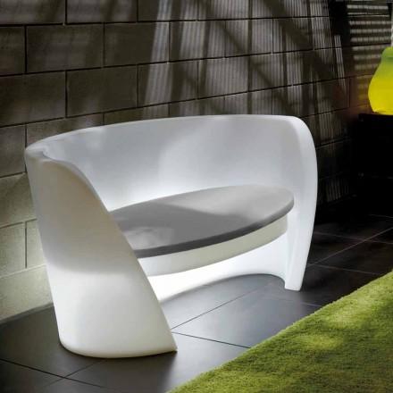 Design-Innensofa aus Polyethylen Slide Rap, hergestellt in Italien