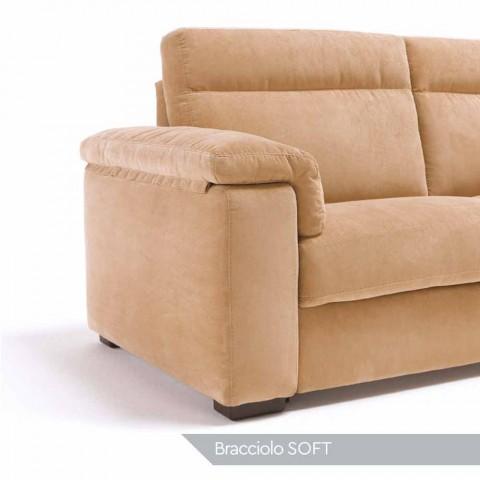 Sofa elektrische Entspannung 2 Plätze, 2 Lilia elektrische Stühle, made in Italy