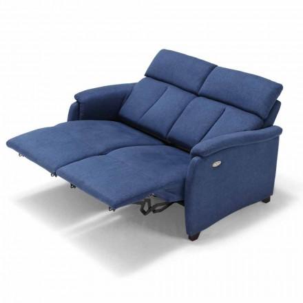 Modernes elektrisches Sofa, 2 Sitzplätze, 2 elektrische Sitze Gelso