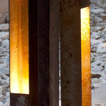 Artisan Outdoor Spotlight in Eisen Corten Finish Made in Italy - Sparta
