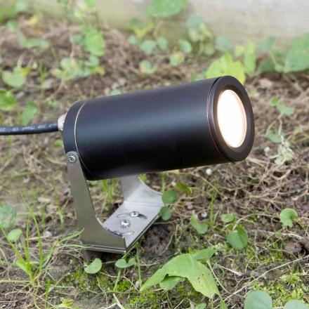 Gartenscheinwerfer aus schwarz eloxiertem Aluminium mit LED Made in Italy - Forla