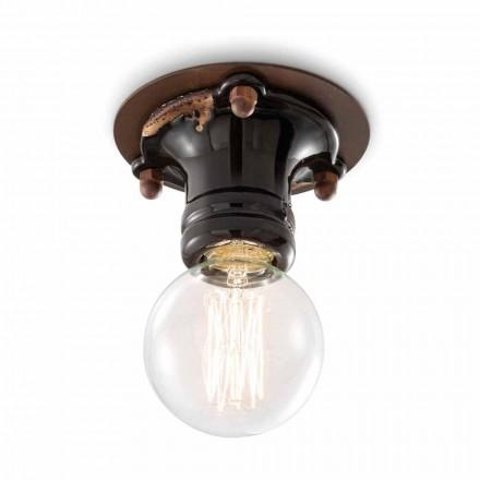 Retro Lampe aus Keramik und Metall Cloe Ferroluce