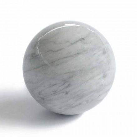Moderner Kugelschreiber aus grauem Bardiglio-Marmor Made in Italy - Sphere