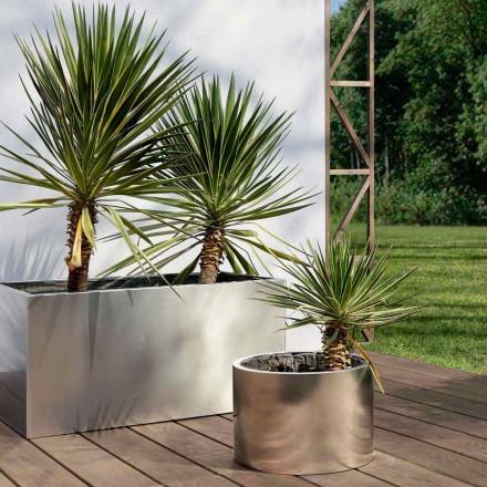 Runder oder rechteckiger Gartenpflanzer aus Stahl Made in Italy - Philly