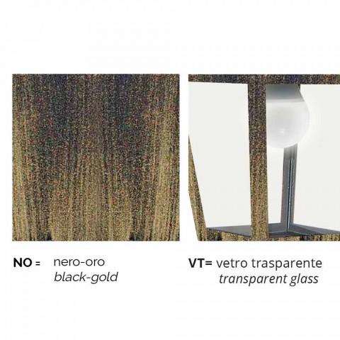 Außenwandleuchte aus Aluminium hergestellt in Italien, Aquilina
