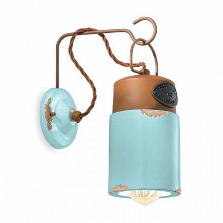 Wandlampe aus Keramik und Rosteisen Desiree Ferroluce