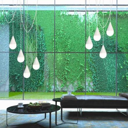 Hängelampe mit 8 Lichtern in modernem Design Drop