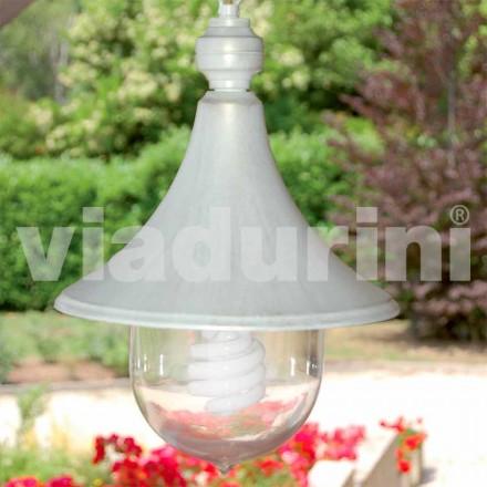 Outdoor Pendelleuchte aus weißem Aluminium, made Italy, Anusca