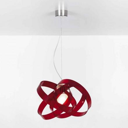 Modernes Design Pendelleuchte aus Methacrylat, Diam. 6cm Ferdi