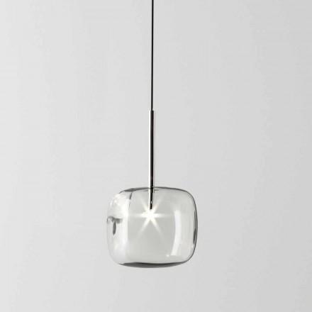 Design Hängelampe aus Metall und Glas Made in Italy - Donatina