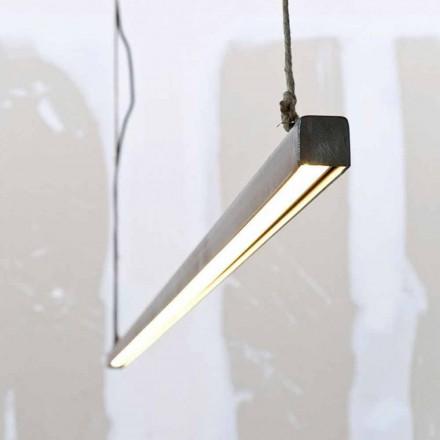 Hängelampe aus Eisen und Seil mit integrierter LED Made in Italy - Stecca