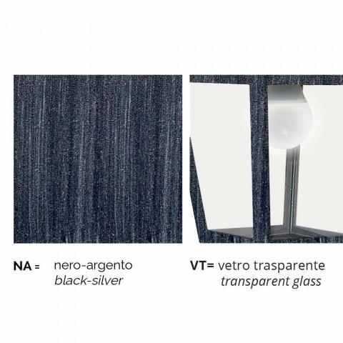Outdoor Pendelleuchte aus Aluminium, hergestellt in Italien, Aquilina