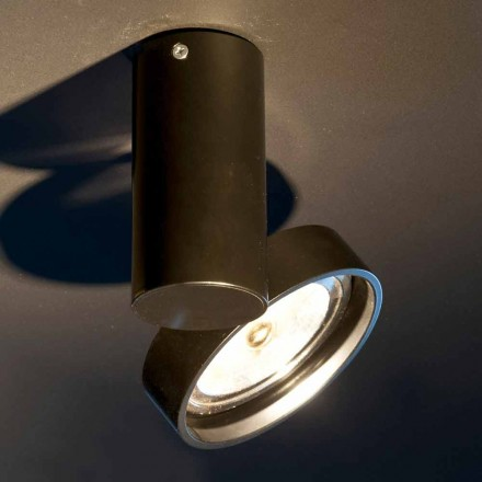 Handgefertigte Aluminiumlampe mit verstellbarem Ring Made in Italy - Gemina