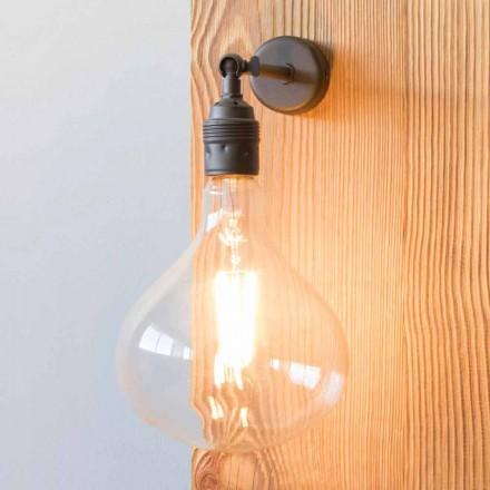 Lampe mit handgefertigter brünierter Eisenstruktur Made in Italy - Alabama