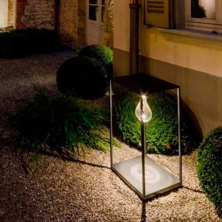 Handgefertigte Außenlampe aus Eisen mit integrierter LED Made in Italy - Cubola