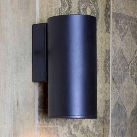 Handgefertigte zylindrische Eisenwandleuchte Made in Italy - Gemina