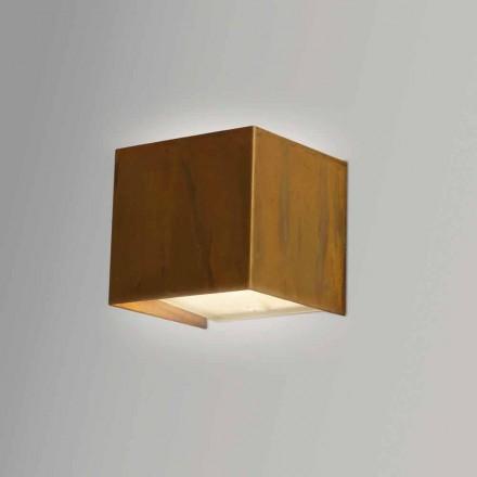 Wandleuchte aus Messing im modernen Design 9x H 9x, 9 cm, Venere