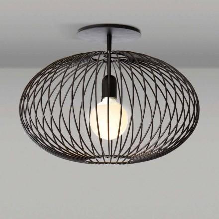 Moderne Deckenlampe aus lackiertem Stahl, 48xH 35 cm, Heila