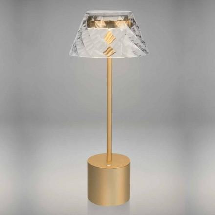 Design Touch LED Tischleuchte aus Metall und Acryl - Tagalong
