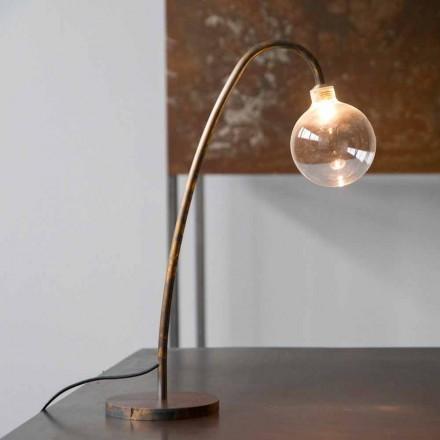 Handgemachte Eisen Tischlampe Gold Finish Made in Italy - Ribolla
