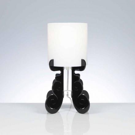 Tischlampe mit zylindrischem Lampenschirm, Durchmesser 18,5 cm, Samanta
