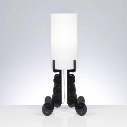 Tischlampe mit zylindrischem Lampenschirm, Durchmesser 26,5 cm, Samanta