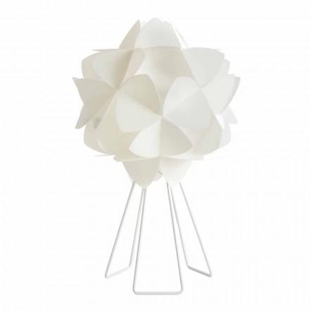 Tischlampe im modernen Design perlweiß, Kaly Durchmesser 46 cm
