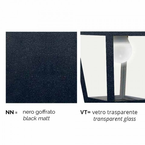 Outdoor Aluminium Stehleuchte made in Italy, Kristel